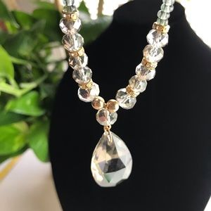 Beaded Necklace Clear Fashion Jewelry